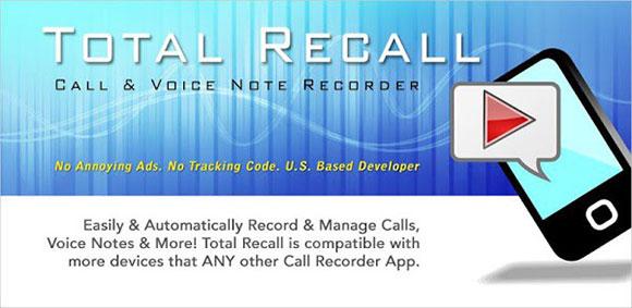 Call Recorder | Total Recall FULL v2.0.67 دانلود نرم افزار ضبط مکالمات دو طرفه | نسیم دانلود