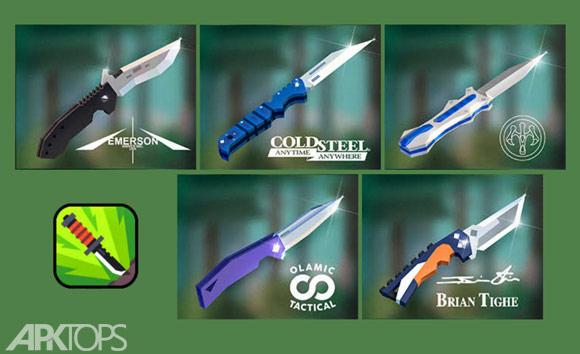 Flippy Knife v1.8.4 دانلود بازی اکشن و سه بعدی پرتاب چاقو برای اندروید   نسیم دانلود
