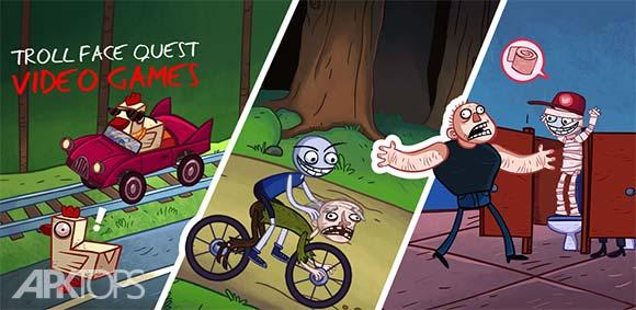 Troll Face Quest Video Games v1.5.1 دانلود بازی مفرح جستجوی صورت های ترول اندروید | نسیم دانلود